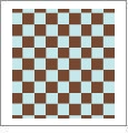 Checkers 04 - QuickStitch Embroidery Paper - One 8.5in x 11in Sheet