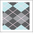 Argyle 02 - QuickStitch Embroidery Paper - One 8.5in x 11in Sheet - CLOSEOUT