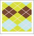 Argyle 05 - QuickStitch Embroidery Paper - One 8.5in x 11in Sheet