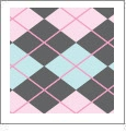 Argyle 06 - QuickStitch Embroidery Paper - One 8.5in x 11in Sheet - CLOSEOUT
