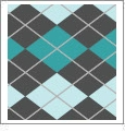 Argyle 09 - QuickStitch Embroidery Paper - One 8.5in x 11in Sheet