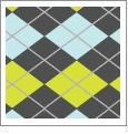 Argyle 10 - QuickStitch Embroidery Paper - One 8.5in x 11in Sheet