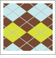 Argyle 11 - QuickStitch Embroidery Paper - One 8.5in x 11in Sheet