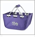 Mini Foldable Market Tote Embroidery Blanks - PURPLE