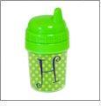 Baby's First Sippy Cup Acrylic Embroidery Blank - Green