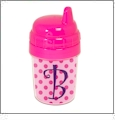 Baby's First Sippy Cup Acrylic Embroidery Blank - Hot Pink