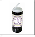 Sports Bottle Acrylic Embroidery Blank BLACK