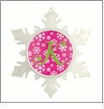 Snowflake Ornament - 5 5/8in - Acrylic Embroidery Blank