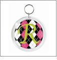 Snapin Round Keychain - Small - Acrylic Embroidery Blank - CLOSEOUT
