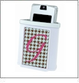 Cell Phone/PDA Holder - White Acrylic Embroidery Blank CLOSEOUT