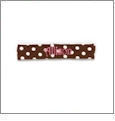 Brown/White Polka Dot Toddler Stretch Headband Embroidery Blanks - CLOSEOUT