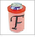 Can Cooler with Red Ring Acrylic Embroidery Blank - CLOSEOUT