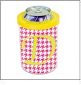 Can Cooler with Yellow Ring Acrylic Embroidery Blank - CLOSEOUT
