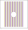 Vertical Stripe with Circle 2 - QuickStitch Embroidery Paper - One 8.5in x 11in Sheet