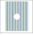 Vertical Stripe with Circle 1 - QuickStitch Embroidery Paper - One 8.5in x 11in Sheet