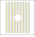 Vertical Stripe with Circle 3 - QuickStitch Embroidery Paper - One 8.5in x 11in Sheet - CLOSEOUT