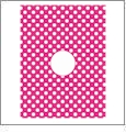 Dots with Circle - QuickStitch Embroidery Paper - One 8.5in x 11in Sheet - CLOSEOUT