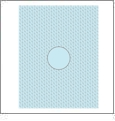 Wave with Circle 1 - QuickStitch Embroidery Paper - One 8.5in x 11in Sheet - CLOSEOUT