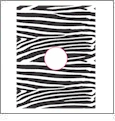 Zebra with Circle - QuickStitch Embroidery Paper - One 8.5in x 11in Sheet