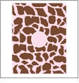 Giraffe with Circle - QuickStitch Embroidery Paper - One 8.5in x 11in Sheet