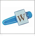 Photo Computer Clip - Blue Holder Acrylic Embroidery Blank - CLOSEOUT