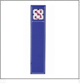 Bookmark - Blue Acrylic Embroidery Blank - CLOSEOUT