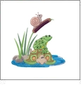 Lily Pad Pals Embroidery Designs by Nancy Zieman for Amazing Designs on a Multi-Format CD-ROM ADP-84