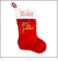 Easy Embroidery Christmas Stocking with Invisible Zipper Embroidery Blanks