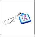 Cell Phone Charm - Translucent Blue - Acrylic Embroidery Blank - CLOSEOUT