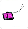 Cell Phone Charm - Black - Acrylic Embroidery Blank - CLOSEOUT