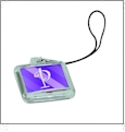 Cell Phone Charm - Clear - Acrylic Embroidery Blank - CLOSEOUT
