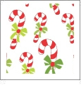 Candy Canes - Winter Holiday - QuickStitch Embroidery Paper - One 8.5in x 11in Sheet