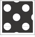 Polka Dot - QuickStitch Embroidery Paper - One 8.5in x 11in Sheet- CLOSEOUT