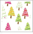 Christmas Trees - Winter Holiday - QuickStitch Embroidery Paper - One 8.5in x 11in Sheet