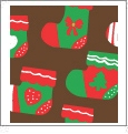 Stockings - Brown - Winter Holiday - QuickStitch Embroidery Paper - One 8.5in x 11in Sheet - CLOSEOUT