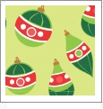Ornaments - Light Green - Winter Holiday - QuickStitch Embroidery Paper - One 8.5in x 11in Sheet