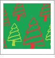 Christmas Trees - Green - Winter Holiday - QuickStitch Embroidery Paper - One 8.5in x 11in Sheet - CLOSEOUT