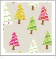 Christmas Trees - Light Tan - Winter Holiday - QuickStitch Embroidery Paper - One 8.5in x 11in Sheet - CLOSEOUT