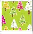 Christmas Trees - Light Green - Winter Holiday - QuickStitch Embroidery Paper - One 8.5in x 11in Sheet