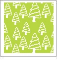Christmas Trees - Light Green/White - Winter Holiday - QuickStitch Embroidery Paper - One 8.5in x 11in Sheet
