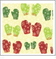 Mittens - Light Green - Winter Holiday - QuickStitch Embroidery Paper - One 8.5in x 11in Sheet