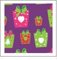 Presents - Purple - Winter Holiday - QuickStitch Embroidery Paper - One 8.5in x 11in Sheet