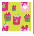 Presents - Light Green - Winter Holiday - QuickStitch Embroidery Paper - One 8.5in x 11in Sheet - CLOSEOUT