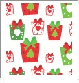 Presents - White - Winter Holiday - QuickStitch Embroidery Paper - One 8.5in x 11in Sheet