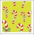 Candy Canes - Light Green - Winter Holiday - QuickStitch Embroidery Paper - One 8.5in x 11in Sheet - CLOSEOUT