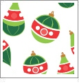 Ornaments - White - Winter Holiday - QuickStitch Embroidery Paper - One 8.5in x 11in Sheet