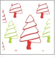 Christmas Trees - White - Winter Holiday - QuickStitch Embroidery Paper - One 8.5in x 11in Sheet - CLOSEOUT
