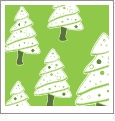 Christmas Trees - Light Green/White - Winter Holiday - QuickStitch Embroidery Paper - One 8.5in x 11in Sheet - CLOSEOUT