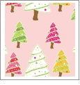 Christmas Trees - Pink - Winter Holiday - QuickStitch Embroidery Paper - One 8.5in x 11in Sheet
