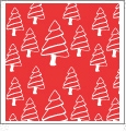 Christmas Trees - Red/White - Winter Holiday - QuickStitch Embroidery Paper - One 8.5in x 11in Sheet - CLOSEOUT
